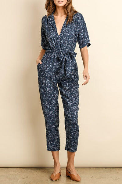 Retro Printed Jumpsuit