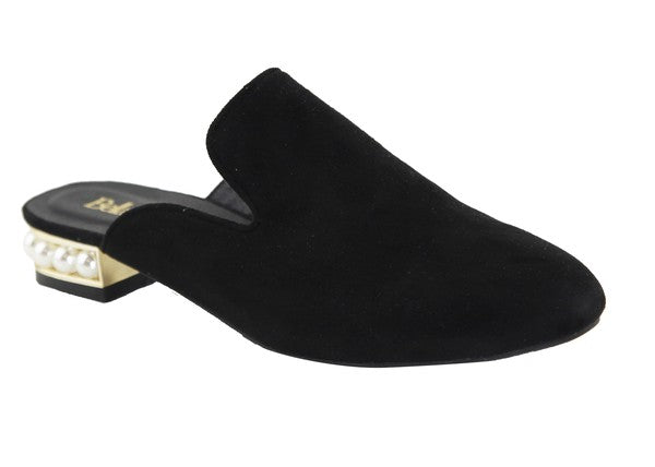 Pearl Accented Hill Slip On Shoes
