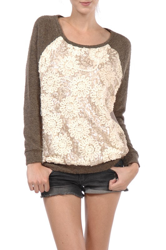 Sequin Detailed Top