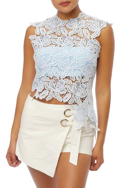 Spring Blues Lace Top