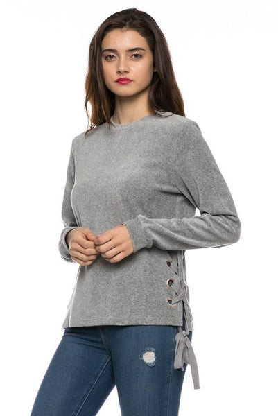Sweater With Side Lace