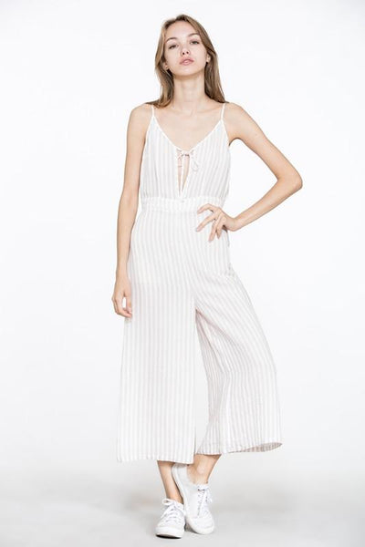 Sleeveless Stripe Jumpsuit, S,M,L    $39.99