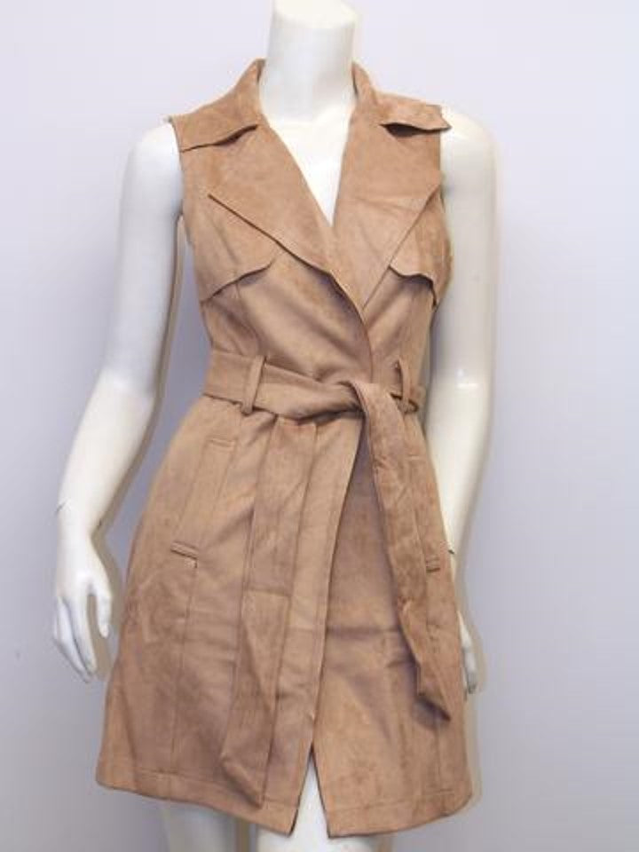 Suede Like Vest Dress