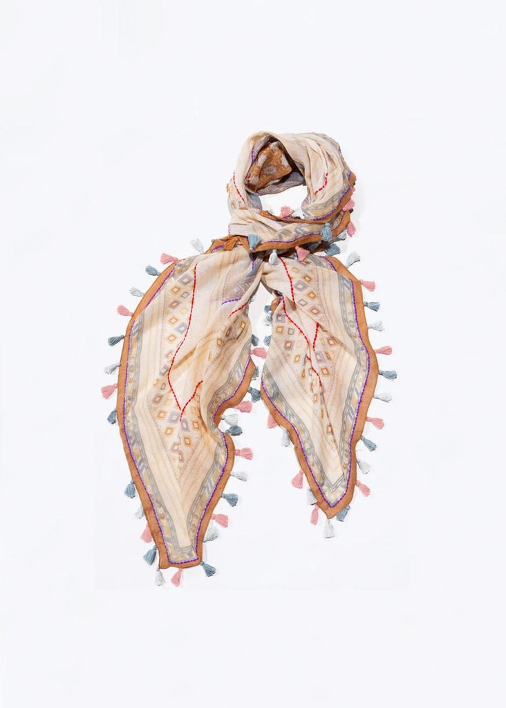Scarf Multi Color Tassel