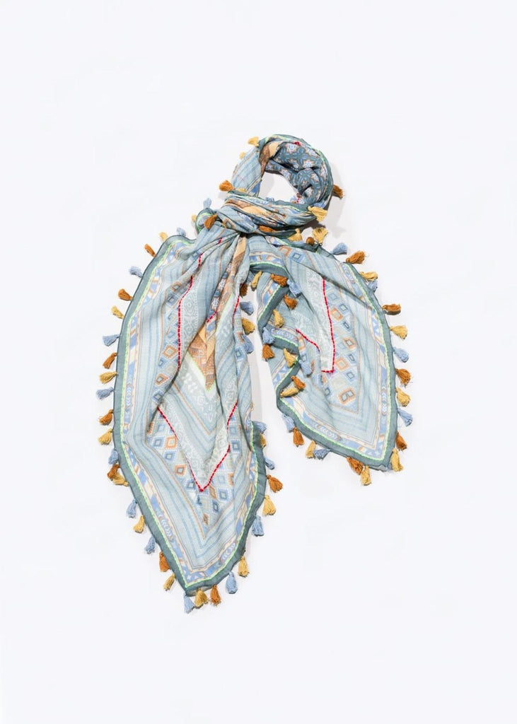 Scarf Light Blue Print