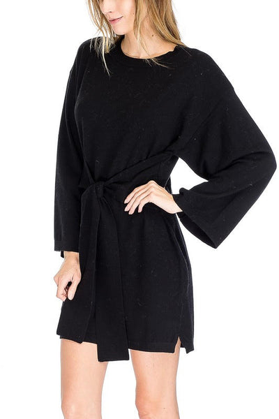Waist Tie Sweater Dress