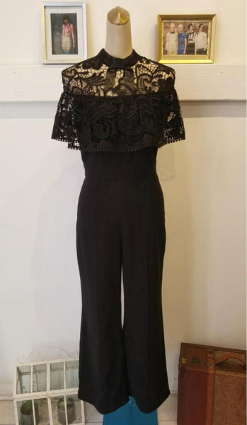 Solid Jumpsuit With Lace