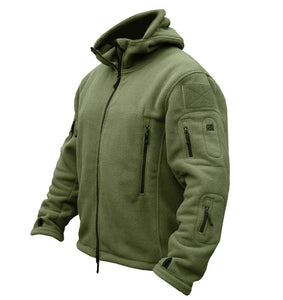 Tactical Military Winter Fleece Hooded Outdoor Sports Jacket