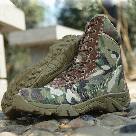 Genuine Leather Tactical Boots