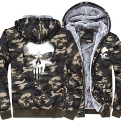 CAMOUFLAGE PUNISHER HOODIES