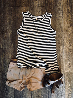 Relaxed Olive Stripes