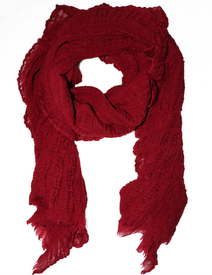 Multi Style Scarf - Ruby Red