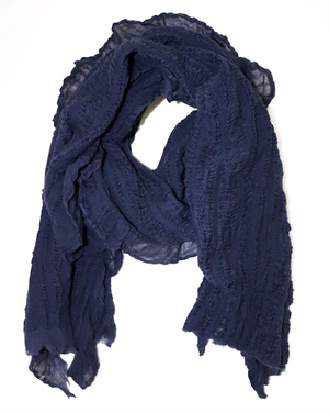 Multi Style Scarf - Navy Blue
