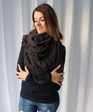 Multi Style Scarf - Taupe Grey