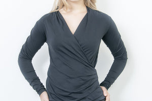 Blouse With Front Wrap