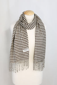 Hounds Tooth Cashmere Feel Scarves