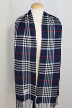 Plaid Burberry Style Cashmere Feel Scarves