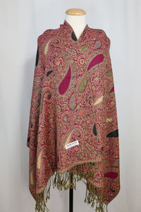 Large Colorful Paisley Print Pashmina