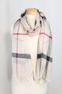 Plaid Lightweight Spring Summer Scarf