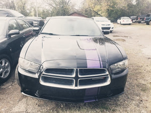 2014 DODGE CHARGER SXT RWD V6 BLACK W PURPLE STRIPE