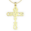 Image of (Gold) Amazing Grace Cross Necklace