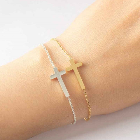 Sideways Cross Bracelet
