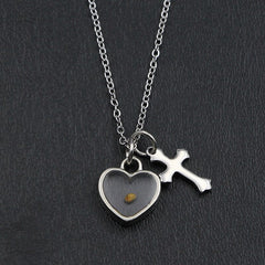 Mustard Seed (Heart + Cross) Necklace