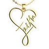Image of (Gold) Faith Heart Necklace