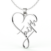 Image of Faith Heart Necklace