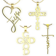 (Gold) Ultimate Faith Necklace Set
