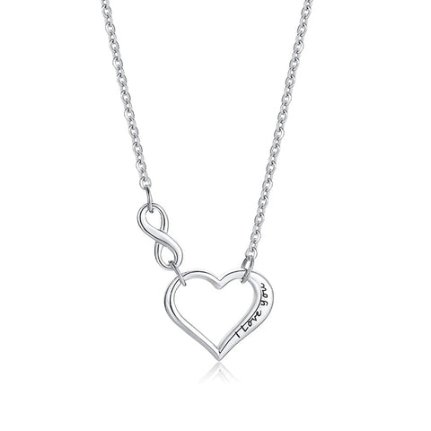 I Love You Infinity Heart Necklace