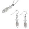Image of Jesus Fish Pack (Necklace + Earrings)