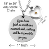 Image of Mustard Seed (Heart) Pendant Necklace