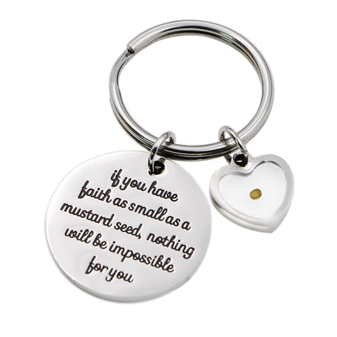 Mustard Seed (Heart) Key Chain