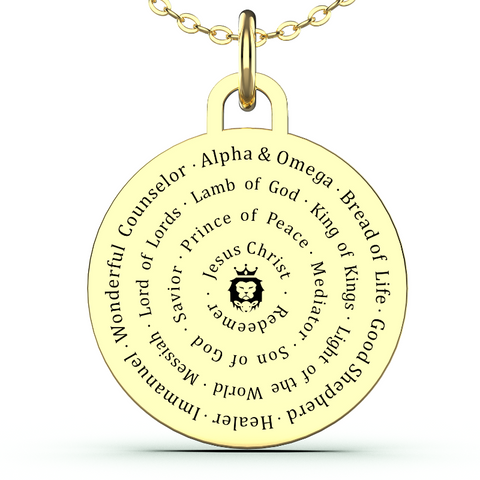 (Gold) Names of Jesus Necklace