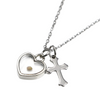 Image of Mustard Seed (Heart + Cross) Necklace