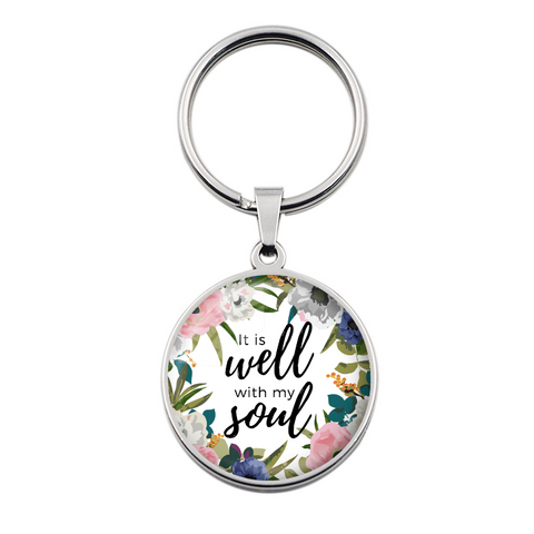 It Is Well With My Soul Key Chain - Stainless