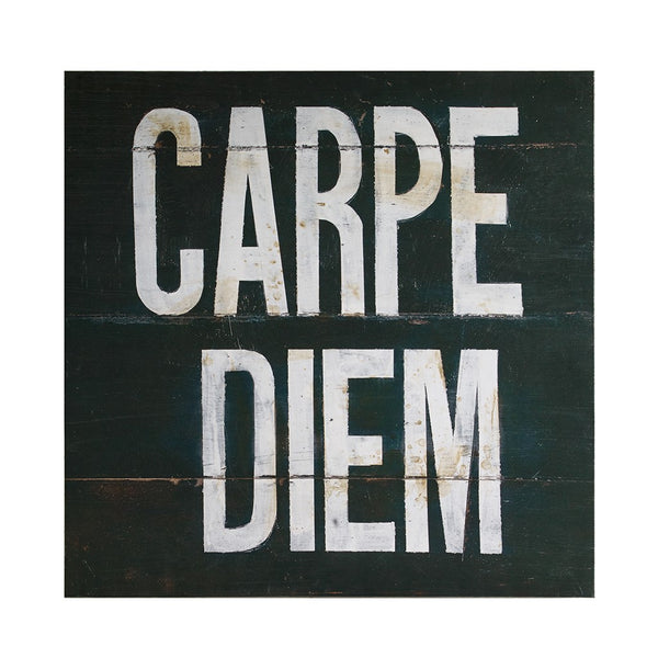 Cozily Home black Carpe Diem Canvas
