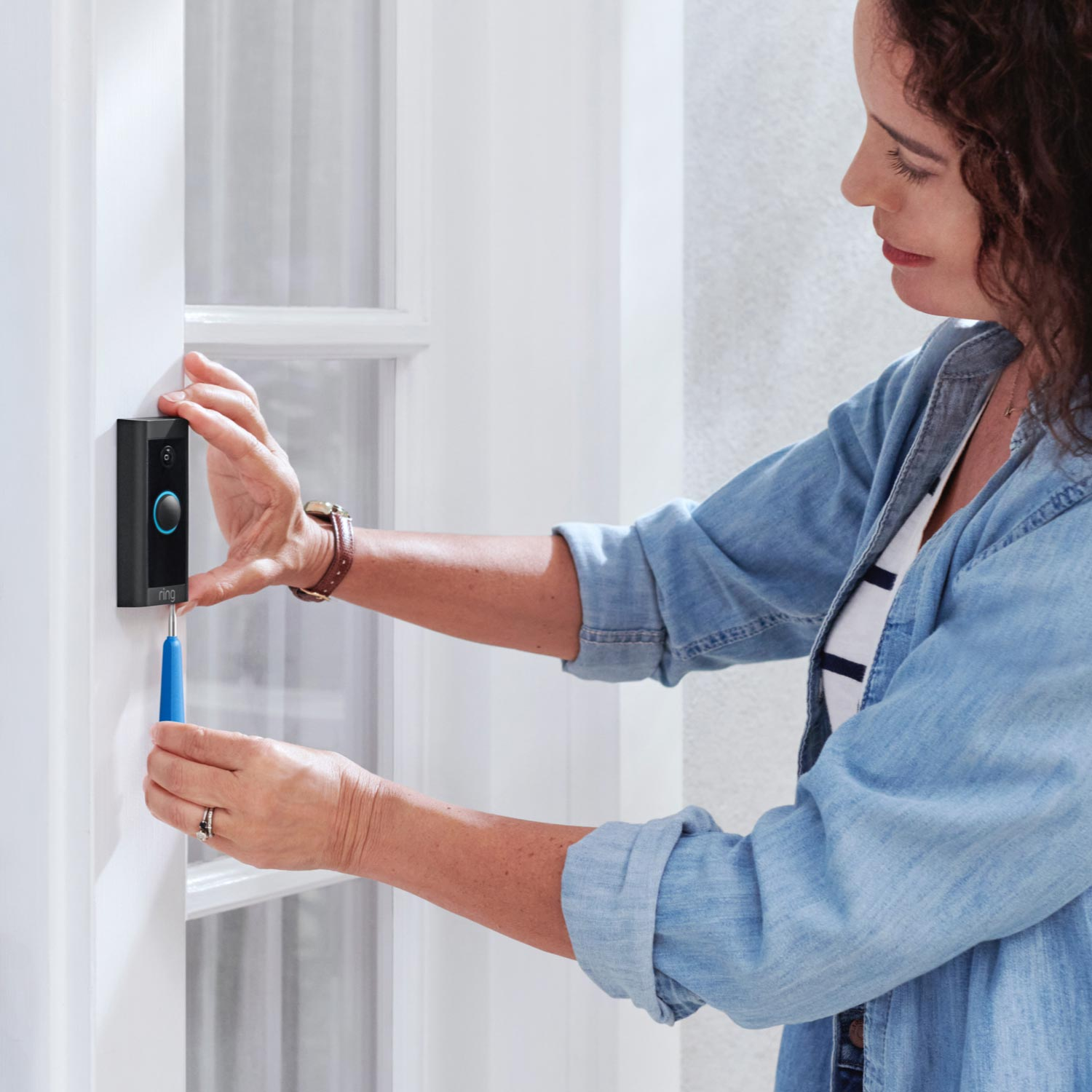 Video Doorbell Wired with Plug-In Adapter -