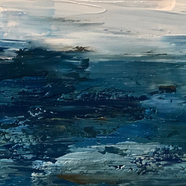 Palette Knife Stormy Seascape Painting - 138