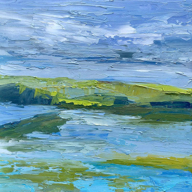 Palette Knife Newport Back Bay Painting - 140