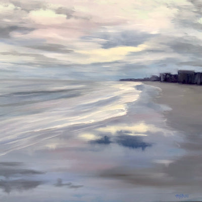 Winter Storm Refections  - Etherial Seascape Painting - 158