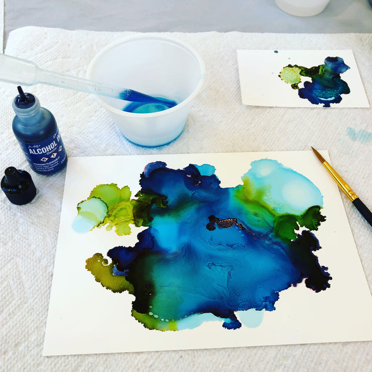 Abstract Alcohol Ink Class