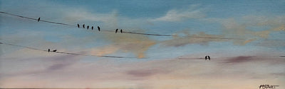 Birds on a Wire - Wired Painting 101