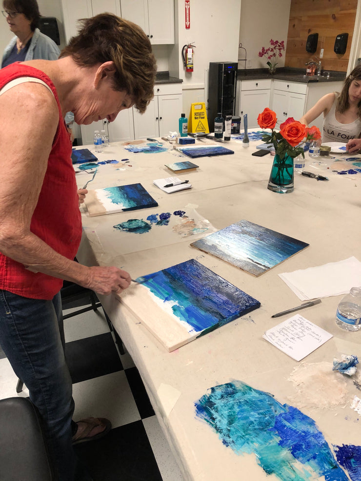 Seascape Palette Knife Painting Class