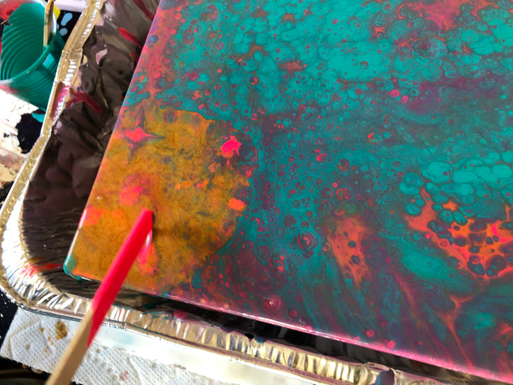 Abstract Acrylic Pour Painting Class
