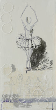 Ballerina in Fifth Position - Dancer Painting 1003