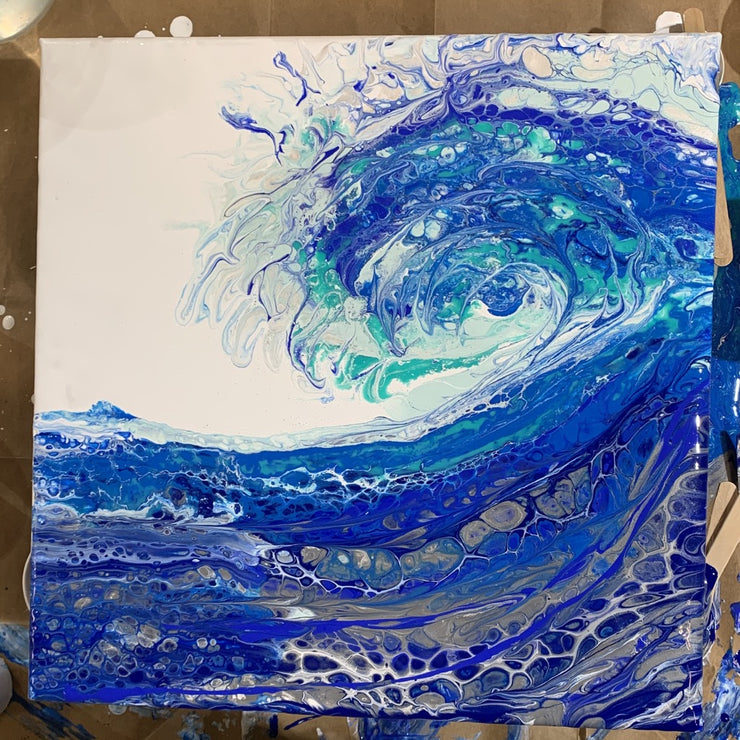Abstract Acrylic Wave Painting by Artist Michelle S Burt