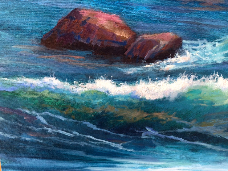 Illuminated waves and shadow waters- Seascape - 149