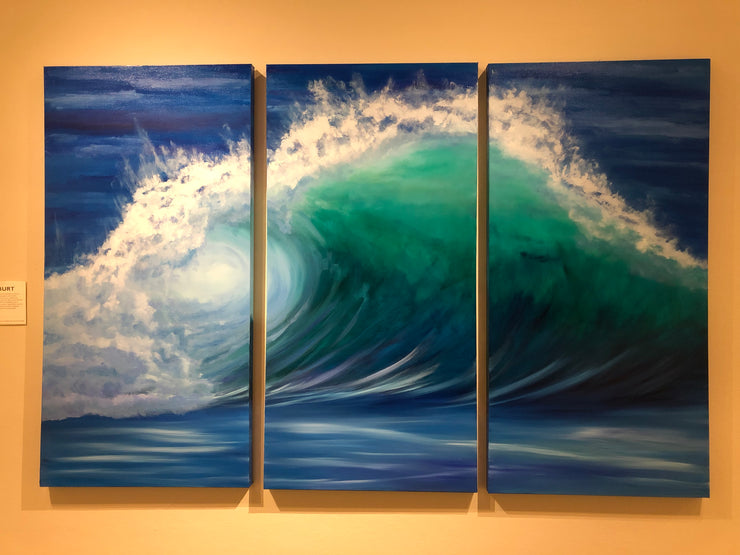 Wave Triptych Painting 525